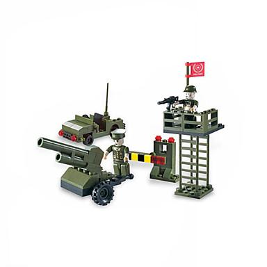Leksaker för pojkar Byggblock block Modell- och byggleksak Tank / Flygplan Plastic över 6 Grå
