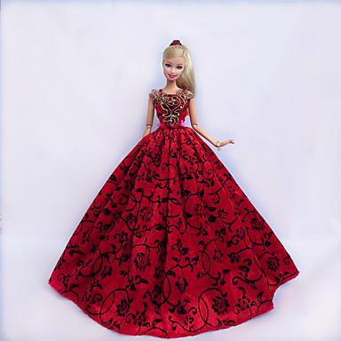 Princesse Robes Pour Poupée Barbie Dentelle Satin Robe Pour Fille de Jouets  DIY de 5069035 2018 à $4.99