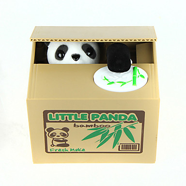 cheap Novelty & Gag Toys-Itazura Coin Bank / Money Bank Piggy Bank / Money Bank Stealing Coin Bank Panda Cute Electric Adults' Boys' Girls' Toy Gift