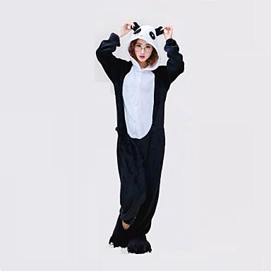 negozio online b6347 d3372 [$24.99] Per adulto Pigiama Kigurumi Panda Fantasia animale Pigiama a  pagliaccetto Poliestere Nero / Bianco Cosplay Per Uomini e donne Pigiama a  ...