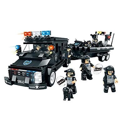 Byggklossar Militära block Militär Bilar Polis kompatibel Legoing Polisbil Pojkar Flickor Leksaker Present