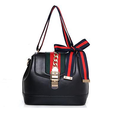 c3e3a43fad Γυναικεία Τσάντες PU Τσάντα ώμου   Κάλυμμα Μονόχρωμο Λευκό   Μαύρο   Κόκκινο  5086422 2019 –  25.99
