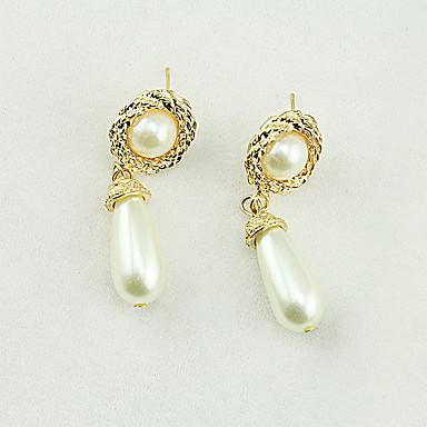 Dámské Kapka Imitace perly Napodobenina perel Visací náušnice - Sexy    Módní Zlatá Náušnice Pro Denní   Ležérní   Bikini 6132983 2019 –  5.99 2512275fae8