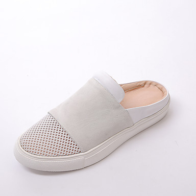 női cipő bőr   velúr   tüll tavasz   nyár scuff   kerek toe   lakás nincs  megadva ruha   alkalmi 5081785 2019 –  37.99 f056599090