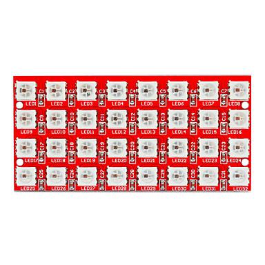 keyes 2812-8 * 4 ledde fyrfärg rgb 32-bitars lykta modul (röd)