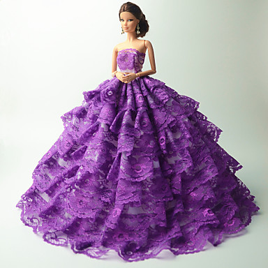 ca46a6a54360 Πάρτι   Απόγευμα Στολές Για Barbiedoll Δαντέλα   Organza Φόρεμα Για Κορίτσια  κούκλα παιχνιδιών 5094120 2019 –  10.19