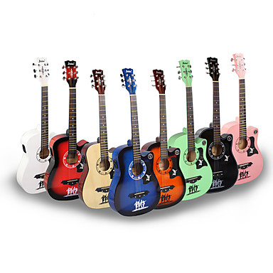 Professional Guitar 38 Inch Guitar Wood Colorful For Beginner