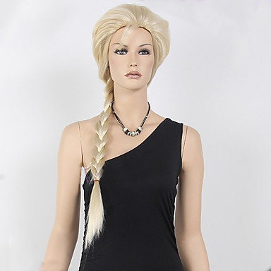 cheap Costume Wigs-Synthetic Wig Cosplay Wig Curly Style Wig Blonde Long Blonde Synthetic Hair Women's Braided Wig Blonde Wig