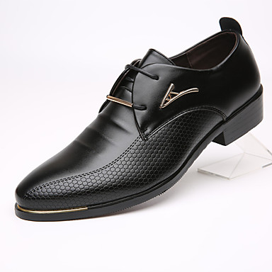 رخيصةأون أحذية أوكسفورد للرجال-رجالي البس حذائك احذية دربي الربيع / الخريف الأعمال التجارية مناسب للبس اليومي المكتب & الوظيفة أوكسفورد جلد ارتداء إثبات أسود / بني / EU40