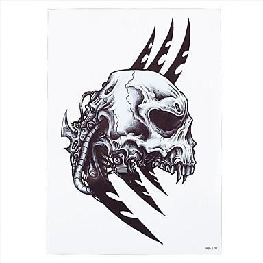 [$1 04] 1pc Fake Water Transfer Spray Tattoo Sticker Body Art Temporary  Skull Sickle Pattern Women Men Decal Tattoo HB-170