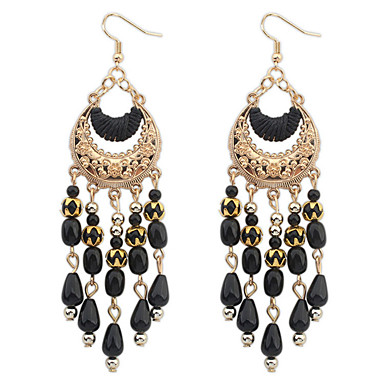 e9ddc9d27 Women's Girls' Hanging Earrings Cheap Ladies Tassel Vintage Party Bohemian  Fashion Crystal Resin Gold Plated Earrings Jewelry Black / Red / Green For  ...