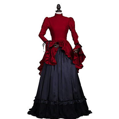Rococo / Victorian Costume Womenu0027s Dress / Party Costume / Masquerade Red Vintage Cosplay Lace / Linen / Satin Long Sleeve Long Length 5193610 2018 u2013 ...  sc 1 st  LightInTheBox & Rococo / Victorian Costume Womenu0027s Dress / Party Costume ...