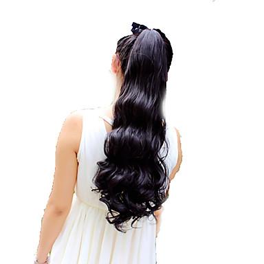 Hästsvans Äkta hår Hårstycke HÅRFÖRLÄNGNING Lockigt / Naturligt vågigt Dagligen