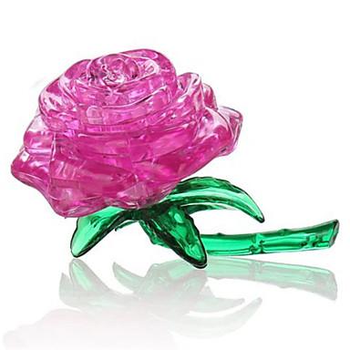 levne 3D puzzle-Puzzle 3D puzzle Křišťálové puzzle Stavební bloky DIY hračky Růže