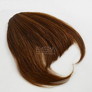cheap Beauty & Hair-Light Brown Dark Brown Straight Bangs Fringe 0.03kg Human Hair Hair Piece Hair Extension Straight