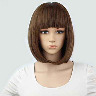 Light Brown Short Wig Women s Cute Fringe Straight Bob Cosplay Wigs Heat  Resistant Full Hair Blonde Short Wig 5227410 2019 –  15.99 e60a70557