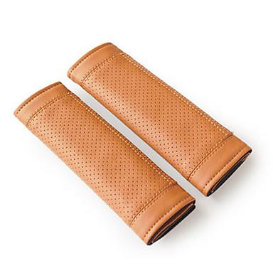 billige Interiørtilbehør til bilen-Setebelte deksel setebelte Lysebrun / Rød / Svart / Rød PU Leather Vanlig Til Universell