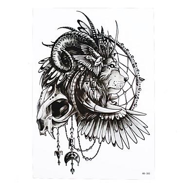 1pc temporary tattoo indian lion design beauty women men skull wing body art waterproof tattoo paint sticker hb 385 5204053 2018 0 99