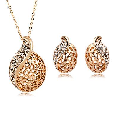 Γυναικεία Σετ Κοσμημάτων Κρεμαστό κυρίες Μοντέρνα Προσομειωμένο διαμάντι Σκουλαρίκια Κοσμήματα Χρυσό / Ασημί Για Καθημερινά Επίσημο
