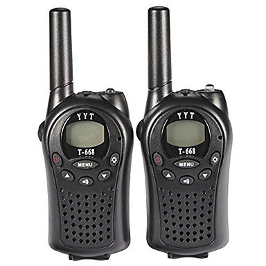 T668446 Walkie Talkie Handheld Low Battery Warning VOX Encryption CTCSS/CDCSS Backlight LCD Display Scan Monitoring 3KM-5KM 3KM-5KM 8 0.5W