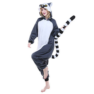 963424df5ea7 Adults  Kigurumi Pajamas Lemur Animal Onesie Pajamas Polar Fleece Ink Blue  Cosplay For Men and Women Animal Sleepwear Cartoon Festival   Holiday  Costumes ...
