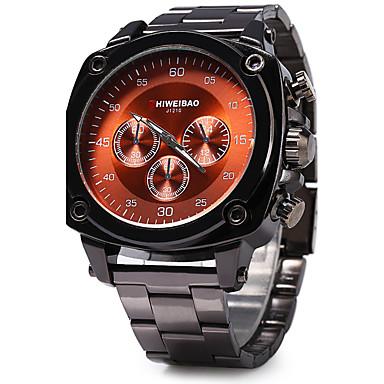 levne Pánské-SHI WEI BAO Pánské Náramkové hodinky Křemenný Velkoformátové Nerez Černá Hodinky na běžné nošení Cool / Analogové Módní - Hnědá Červená Modrá Dva roky Životnost baterie / SOXEY SR626SW
