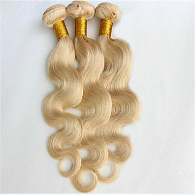povoljno Ekstenzije od ljudske kose-3 paketa Brazilska kosa Tijelo Wave Ljudske kose plete Isprepliće ljudske kose Proširenja ljudske kose / 8A