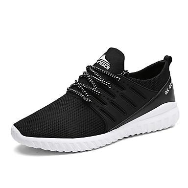 Hombre Zapatos PU Primavera / Verano / Otoño Confort Zapatillas de deporte Running Azul Oscuro / Rojo / Azul 84lWT6