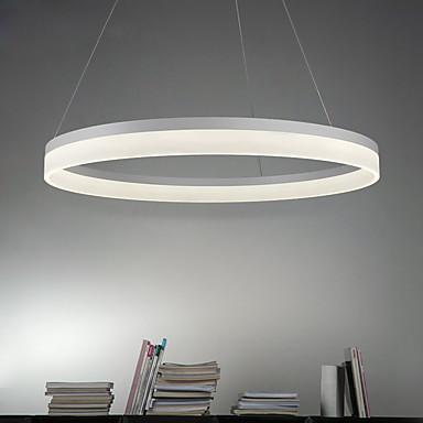 Cirkularno Privjesak Svjetla Ambient Light Slikano završi Metal Acrylic LED 90-240V Meleg fehér / Bijela / Wi-Fi Smart