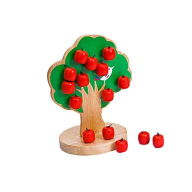 trä träd magnetleksaker, baby blandas, barnens pedagogiska leksaker