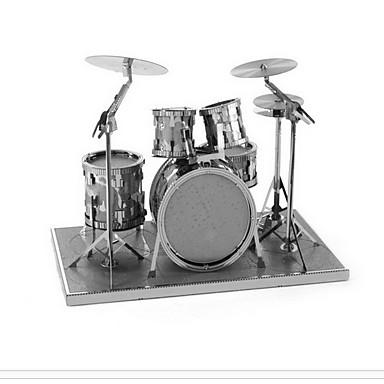 voordelige 3D-puzzels-Aipin 3D-puzzels Modelbouwsets Muziekinstrumenten Drumstel Jazz Drum Metallic Jongens Meisjes Speeltjes Geschenk