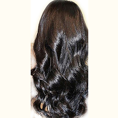 povoljno Perike i ekstenzije-Ljudska kosa Netretirana  ljudske kose Perika pune čipke bez ljepila Full Lace Perika stil Peruanska kosa Wavy Perika 130% Gustoća kose s dječjom kosom Prirodna linija za kosu Afro-američka perika