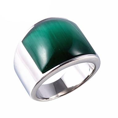 levne Pánské šperky-Pánské Vyzvánění Syntetický opál Hnědá Červená Zelená Titanová ocel Opál Prohlášení Vintage Punk Párty Denní Šperky