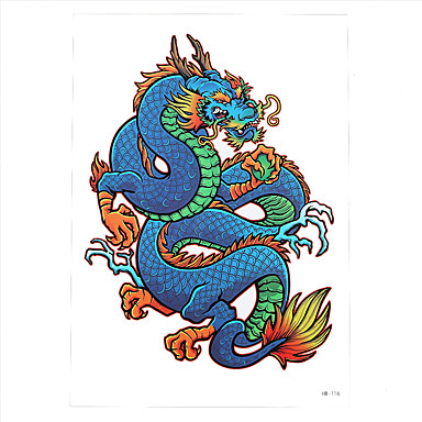 1pc Water Transfer Tattoo Women Men Body Art Temporary Colorful Imperial Dragon  Tattoo Sticker HB-116 5203918 2019 –  0.99 e7392ef9c