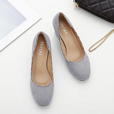 dd9195b64b1 Γυναικεία παπούτσια-Τακούνια-Φόρεμα Καθημερινό-Χαμηλό Τακούνι-Μπαλαρίνα-Κασμίρ-Μαύρο  Γκρι Μπορντώ 5169936 2019 – $20.99