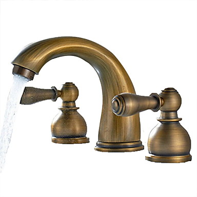 Etonnant Bathroom Sink Faucet   Widespread Antique Brass Widespread Two Handles  Three HolesBath Taps 3205826 2019 U2013 $90.63