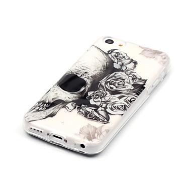 povoljno iPhone maske-Θήκη Za Apple iPhone X / iPhone 8 Plus / iPhone 8 IMD / Ultra tanko / Prozirno Stražnja maska Lubanje Mekano TPU