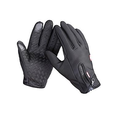 Bike Gloves / Cycling Gloves Ski Gloves Men's Snowsports Full Finger Gloves Warm Anti-skidding Canvas Fleece Ski / Snowboard