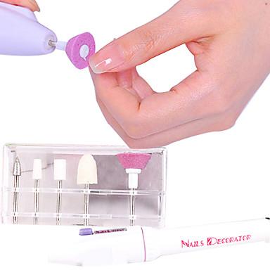 voordelige Nagelgereedschap & Apparatuur-Elektrisch manicure gereedschap Voor Vingernagel Duurzaam Nagel kunst Manicure pedicure leuke Style