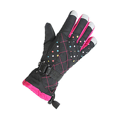 Bike Gloves / Cycling Gloves Ski Gloves Women's Snowsports Full Finger Gloves Windproof Warm Canvas Ski / Snowboard