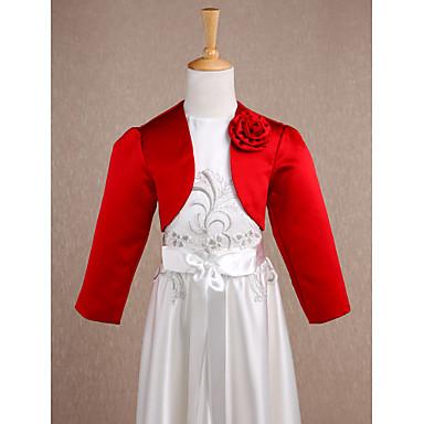 Dugih rukava Saten Vjenčanje / Party / večernja odjeća Dječji ogrtači S Cvijet Bolera
