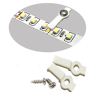 100 Pcs Strip Light Mounting Bracket Fixing Clip-One Side Fixing white Ideal for waterproof strip width 8mm with 100pcs Screws included
