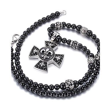 kalen®gothic κοσμήματα στυλ 316L ανοξείδωτο χάλυβα μαύρο λάδι κρεμαστό  μοτίβο μαύρο γυαλί χάντρες μακρύ κολιέ για τους άνδρες 5209304 2019 –  29.99 f53073af3be
