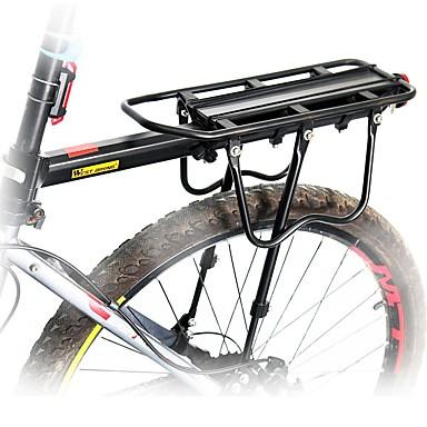 billige Sykkeltilbehør-Bike Cargo Rack Maks Lasting 50 kg Justerbare Reflekterende logo Enkel å installere Aluminiumslegering Vei Sykkel Fjellsykkel - Svart