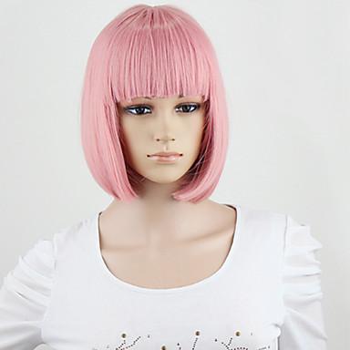 2099 Kurze Sexy Partei Art Und Weise Frauenperücken Medium Rauch Rosa Farbe Synthetisches Haar Volle Perücke Der Neuen Art