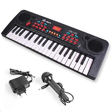 preiswerte Spielzeuginstrumente-Elektronisches Keyboard Piano Spaß Mit einem Mikrofon Kinder Geschenk Jungen Mädchen Geschenk
