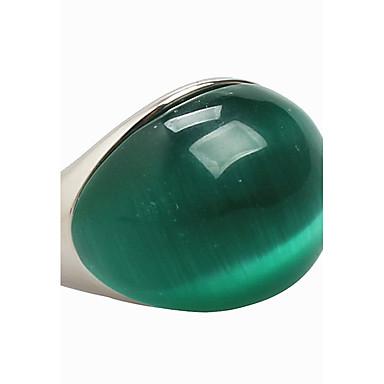 levne Dámské šperky-Pánské Vyzvánění Syntetický opál Kočičí oko Chrysoberyl Aventurin Zelená Syntetické drahé kameny Titanová ocel Opál Prohlášení dámy Vintage Párty Denní Šperky