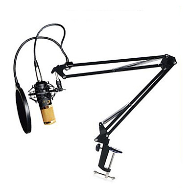 BM800 Condenser Microphone Cardioid Pro Audio Studio Vocal Recording Mic Long Metal Shock Mount 4 Pieces a Set