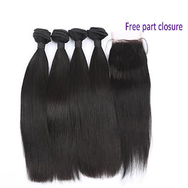 povoljno Ekstenzije od ljudske kose-4 paketića Brazilska kosa Tijelo Wave Virgin kosa Kosa potke zatvaranje Isprepliće ljudske kose Proširenja ljudske kose / 10A