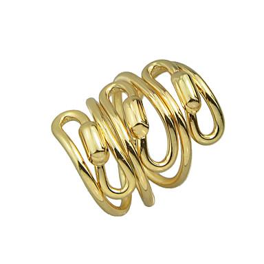 billige Motering-Dame Statement Ring Sølv Gylden Legering Uvanlig Unikt design Vintage Fest Daglig Smykker Stable Artisan